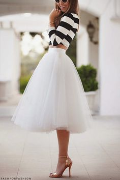 beatiful perfect white skirt!  fashforfashion -♛ STYLE INSPIRATIONS♛