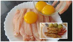 Kuracie mäso ostáva fantasticky jemné a šťavnaté. Takéto cestíčko som nikdy predtým nerobila, ale odteraz je mojou jednotkou. Určite skúste, je to naozaj vynikajúci recept. Ham, Chicken Recipes, Low Carb, Eggs, Lunch, Treats, Breakfast, Red Peppers, Ground Chicken Recipes