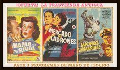 OFERTON Pack 3 Folletos Cine Josep Soligó   La Trastienda Antigua