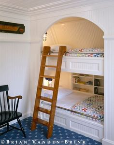 I like the built-in bunk alcoves. They leave lots of floor space in the bedroom for play.