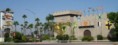 Medieval Times is near Ripley's Believe It or Not! Museum, opposite the Movieland Wax Museum, and just up the road from Knott's Berry Farm.