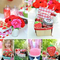 "These juicy party ideas by Happy Wish Company are ""Berry Sweet"" for a Summer Strawberry Picnic Party! ‪#‎Summer‬ ‪#‎Strawberry‬ http://hwtm.me/13vAAdq"