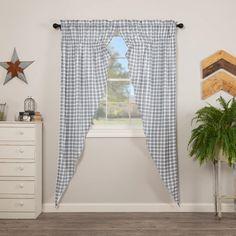 Sawyer Mill Blue Plaid Long Prairie Curtains – Lange General Store