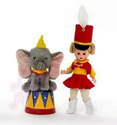 Madame Alexander Flying High With Dumbo Disney Doll With Plush Circus Elephant