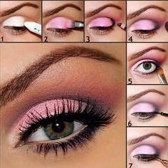 Cute pink eye shadow tutorial