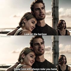 Christina in the background cringing Divergent Jokes, Divergent Four, Divergent Factions, Divergent Fandom, Divergent Trilogy, Tris Und Four, Tris Et Tobias, Theodore James, Theo James