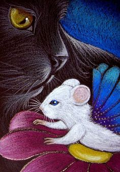 Cyra R. Cancel - BLACK CAT - FAIRY MOUSE 2 - Pencil
