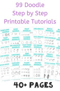 Learn how to doodle with these easy doodle tutorials. Flower doodles, food doodles, travel doodles and lots more. Planner Doodles, Bujo Doodles, Food Doodles, Bullet Journal Art, Bullet Journal Ideas Pages, Bullet Journal Inspiration, Journal Prompts, Bullet Journals, Doodle Art For Beginners