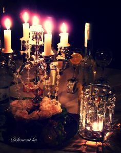 Candles, Elegance Fashion, Candy, Candle Sticks, Candle