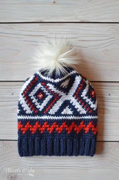 Crochet Chevron Hat - Free Crochet Pattern - Whistle and Ivy Crochet Adult Hat, Crochet Beanie, Girl Crochet Hat, Love Crochet, Knitted Hats, Single Crochet, Olympic Team, Crochet Scarves, Crochet Clothes