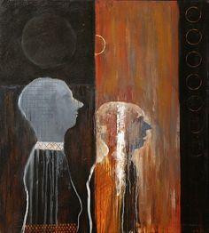 Mel McCuddin, The Astronomers 2014, oil