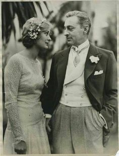 John Barrymore and Dolores Costello at their wedding.