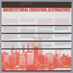 Poster, Architectural Education: Alternatives, 1982 | hbns | Visits | Collection of Cooper Hewitt, Smithsonian Design Museum