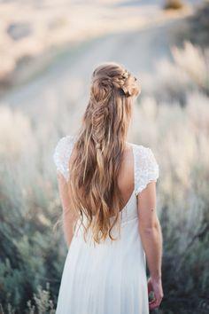 Messy half-up fishtail: http://www.stylemepretty.com/2015/04/12/20-bridal-fishtail-braids-we-love/