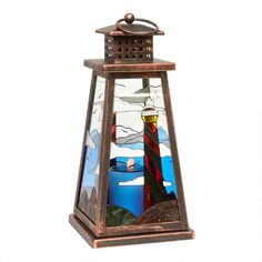 One of my favorite discoveries at ChristmasTreeShops.com: Lighthouse Solar Light Lantern