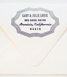 Theo Address Stamp | MaeMae Paperie  #NovoMaeMae