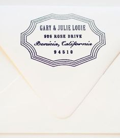 I cannot wait to get an address stamp for our new house!