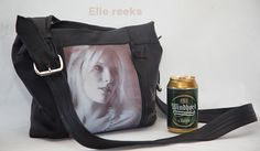 Handmade leather bag with art photography VillionvnCreations Elle collection