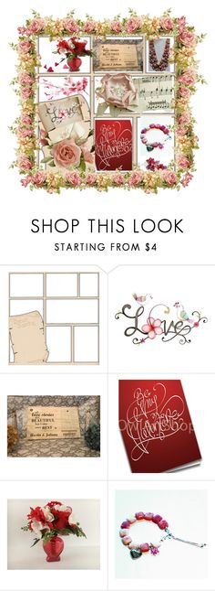 """* * LOVE * *"" by elsiescreativedesign ❤ liked on Polyvore featuring beauty, Retrò and WALL"
