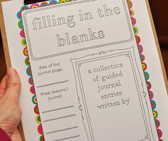 Very cool free printable journal.