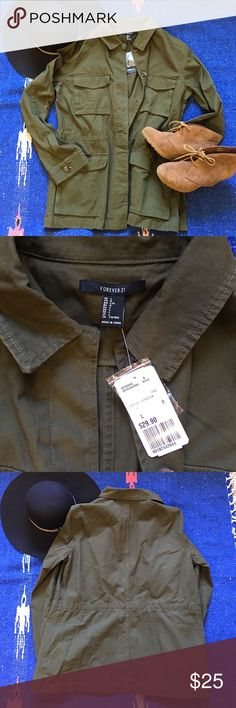BNWT forever 21 utility jacket BNWT Forever 21 utility jacket. So cute just a little too tight in my arms. Forever 21 Jackets & Coats Utility Jackets