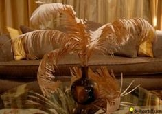 Paper Feathers Centerpiece