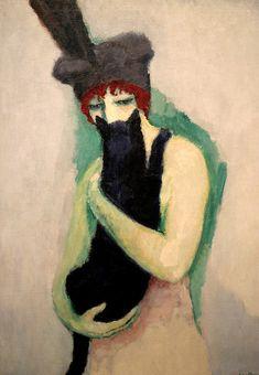 Woman with Cat. Kees van Dongen, 1908. Milwaukee Art Museum.