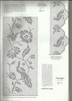 Crochet Tablecloth Pattern, Crochet Bedspread, Crochet Curtains, Crochet Shawl, Crochet Lace, Crochet Patterns, Cross Stitch Books, Cross Stitch Bird, Counted Cross Stitch Patterns