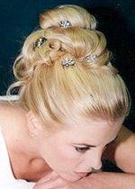 Perfect wedding hair!
