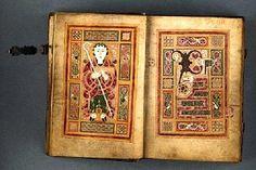 Lovely image of the late 9th/early 10th century Irish manuscript the Macdurnan Gospels