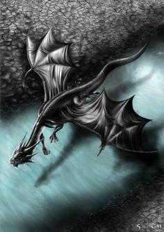 Dragon of the river by Dragkness.deviantart.com on @deviantART