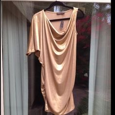 Beautiful New The Limited Metalic Gold Dress Xs/S