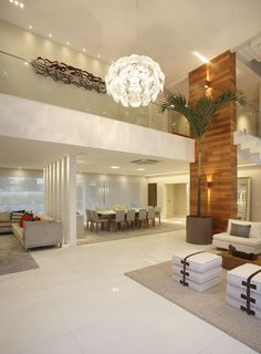Casa com pé direito duplo moderna - veja dicas de decoração e conheça todos os ambientes! #fachadasmodernassobrado