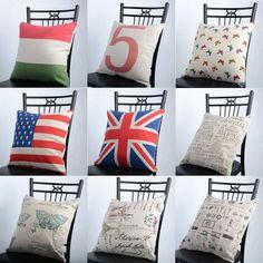New Designer Fashion Top Quality Decorate European Vintage Linen Letter European Cushion Covers