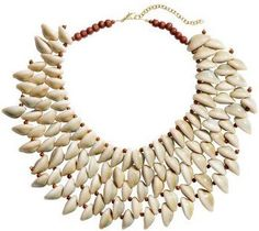 H&M shell collar necklace M Necklace, Beaded Statement Necklace, Short Necklace, Shell Jewelry, Shell Necklaces, Jewelry Necklaces, Tribal Fashion, Shells, Chain