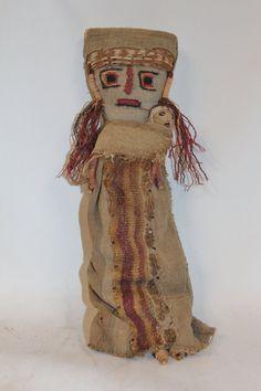 Medium Chancay Peruvian Funerary Doll,# 348