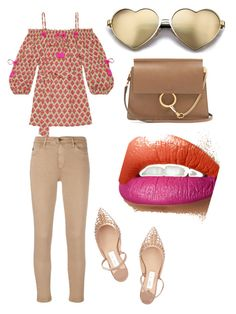 """""""Untitled #131"""" by rosapinki on Polyvore featuring Figue, AG Adriano Goldschmied, Wildfox, Jimmy Choo and Chloé"""