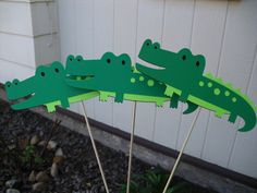 Set Of 3 Alligator Centerpieces/Table Decorations by SophieAndEmma, $5.00