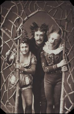 A carte-de-visite portrait of The Majiltons, tumblers and contortionists whose act included comical dancing. Marie, Charles and Frank Cabaret, Old Photos, Vintage Photos, Sideshow Freaks, Circo Vintage, Circus Performers, Night Circus, Vintage Circus, Before Us