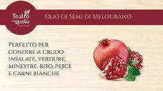 Coccole preziose con l'#Olio di semi di #Melograno! Contiene #Omega3, #Omega6 e #Omega5, un olio dalle incredibili proprietà nutrizionali e cosmetiche! #TeatroDelGusto #TDG