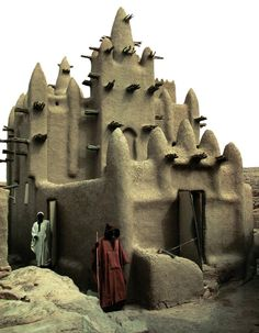MOSQUE at DANI SARÉ VILLAGE • Dogon ethnic group • Mali • http://www.dogon-lobi.ch