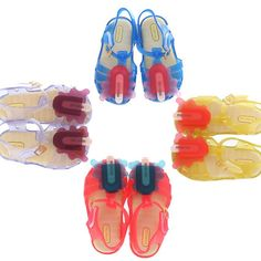 Mini Melissa Children's Shoes New Scented Melting Popsicle Clear Jelly Shoes Baby Kids Sandals Toddler Girl Summer Footwear