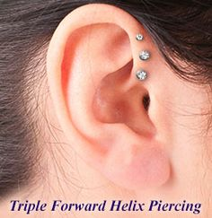 Triple forward helix piercing info