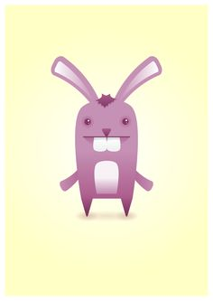 This bunny needs a very big mouth to fit those theeth.