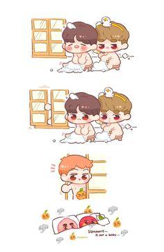 It's fine to have big 👃! Exo Kokobop, Kpop Exo, Sehun, Baekhyun Fanart, Kpop Fanart, Kawaii Chibi, Cute Chibi, Cute Giraffe Drawing, Exo Cartoon