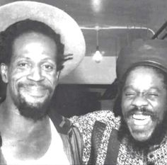 Young Gregory Issacs and Dennis Brown