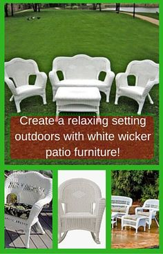 Nothing says fresh outdoors like white wicker patio furniture.  Today you have so many options from real rattan to white resin wicker furniture.  There are many styles and it really depends on which white wicker patio furniture catches your eye and grabs your pocket book!
