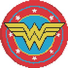 Wonder Woman Shield Cross Stitch Pattern PDF by LeiaPatterns