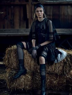 LIMEROOM countryside | Mina Cvetkovic By Nathaniel Goldberg For Vogue Russia March 2015