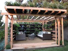 Look at the awesome plant-scapes all over this pergola - Very Cool!  20 Ways to Create Instant Shade for Your Outdoor Room : Home Improvement : DIY Network